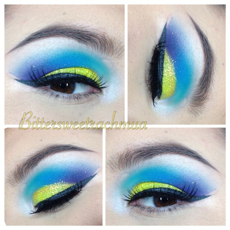 Tropical fish or ucla themed makeup