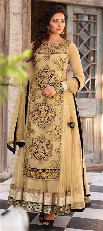 411262: Long Kurta worn over embellished #anarkali is the latest ethnic style rocking the wardrobes.