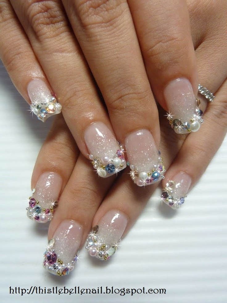 Pearl tip Acrylic Nails | Nails | Pinterest | Mermaids ...