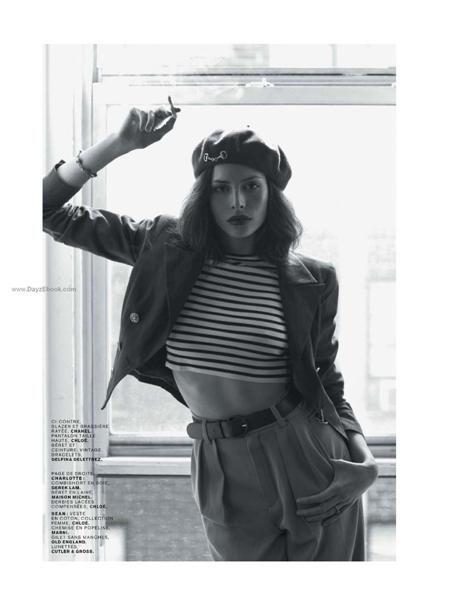Black and White: French Style with Beret / Schwarz und Weiß: französischer Stil mit Baskenmütze