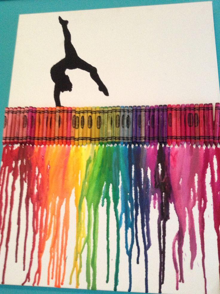 Gymnastics crayon art that I made