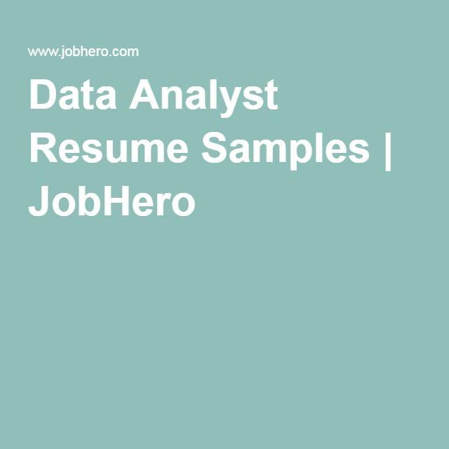 7 best data analyst images on Pinterest Resume cv, Cv format and - resume data analyst