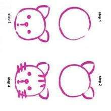 How to draw a Cat - Drawing for kids - HOW TO DRAW lessons - How to draw ANIMALS - How to draw EASY ANIMALS