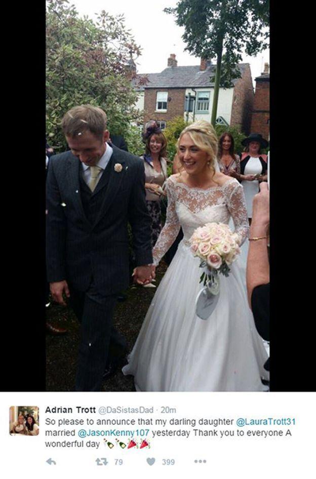 Laura Trott and Jason Kenny wedding
