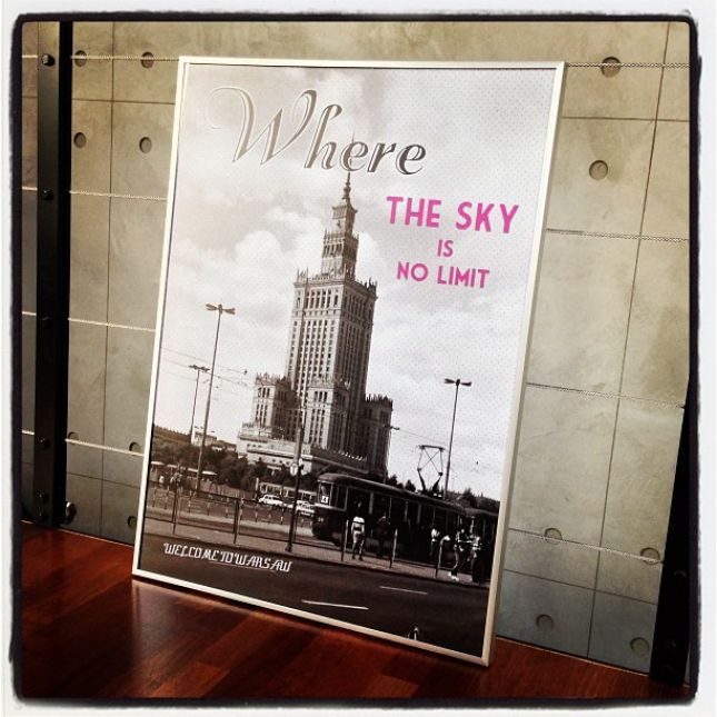"""Wars Sawa Design - poster """"Where the sky is no limit"""""""