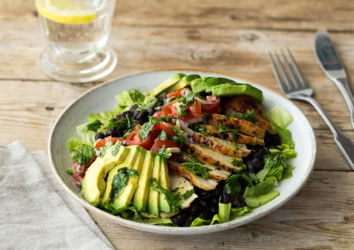 This upgraded burrito bowl will have you ditching your favorite Mexican takeout—we promise! Smoky chipotle chili powder and lime zest team up for an intensely flavorful coating on lightly charred chicken. Oregano-scented black beans and homemade pico de gallo are what truly sets this dinner apart.