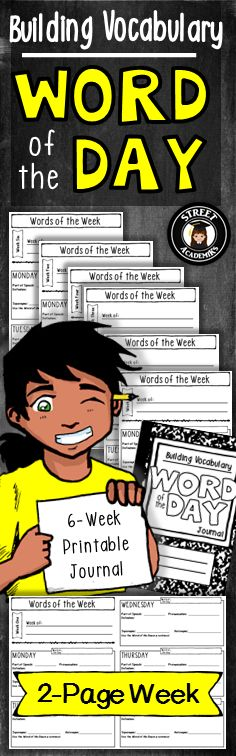 $3.00 - The WOTD Journal is an excellent way to gradually introduce vocabulary over a six-week period. Daily exposure to new words supports students in developing reading and writing skills.