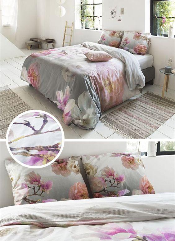 41d82623b20 Fleurige dekbedovertrek met een schitterende print van bloemen. Het  overtrek is gemaakt van 100% Percaline Katoen.