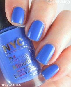 NYC nail polish in Ocean Blue