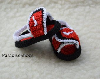 crochet jordan hydro 3 shoes crochet jordan by ParadiseShoes
