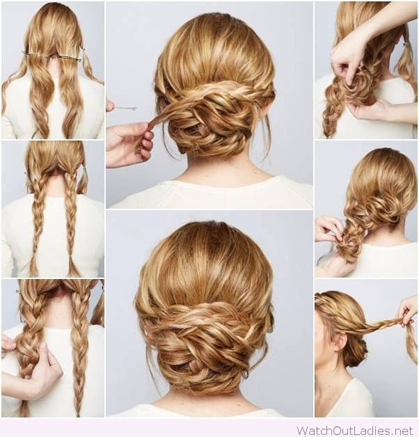 Perfect braided chignon tutorial step by step