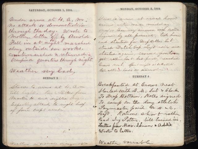 Civil War Journal Entries