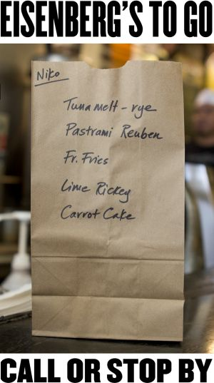 I love the idea of to-go bags being just plain paper bags...so simple!