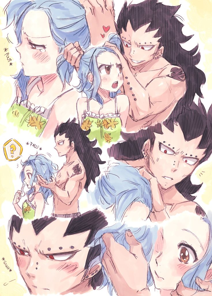 levy mcgarden and gajeel redfox 3gale 3 anime couples fairies tail