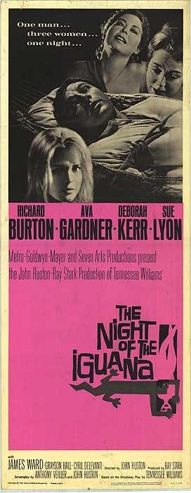 The Night of the Iguana (1964). Starring: Richard Burton, Ava Gardner, Deborah Kerr and Sue Lyon