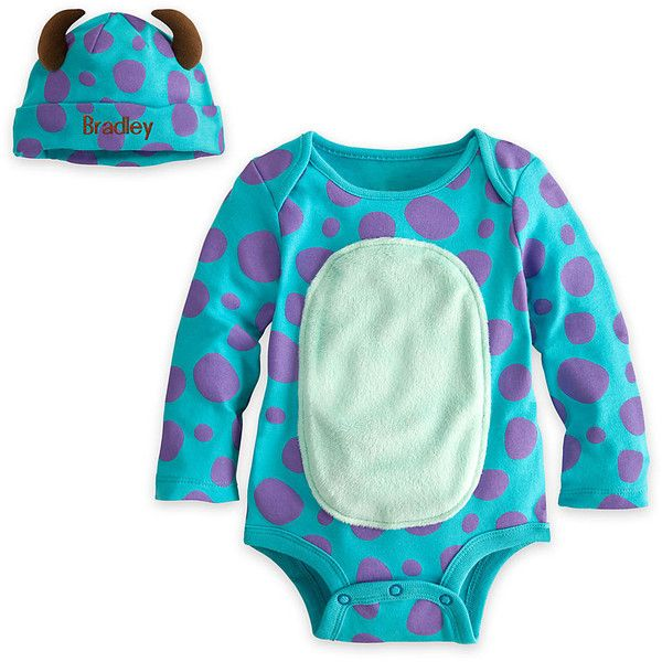 Sulley Disney Cuddly Bodysuit Set for Baby Personalizable ($14) ❤ liked on Polyvore featuring baby, baby clothes, kids, baby boy and baby stuff