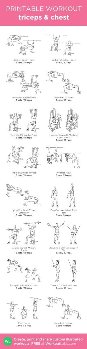 triceps & chest: my custom printable workout by @WorkoutLabs #workoutlabs #customworkout by jeannine