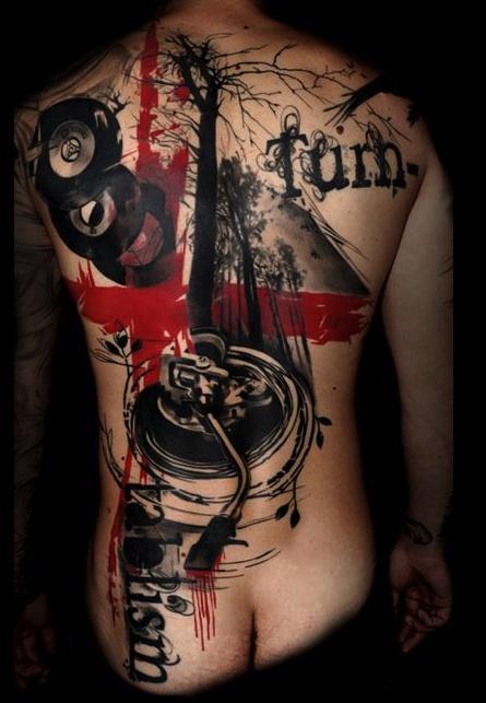 **realistic trash polka**  by Simone Pfaff     from buena vista tattoo club / Germany