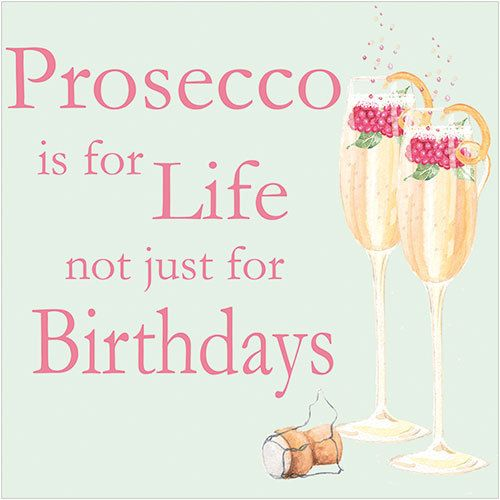 """CODE: WS491 NAME: PROSECCO PRICE: £1.75 Buy now: https://www.phoenix-trading.co.uk/web/km43704/area/shop-online/category/women/product/WS491/prosecco-new/ Presentation: With a white 100 gsm, 100% recycled, envelope. Blank for your own message Paper Type: Matt Textured Flittered Artist: Karen Tye Bentley Size: 5 x 5"""" : 127 x 127mm"""