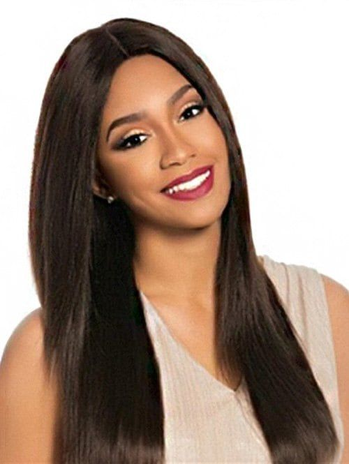 Long Middle Part Straight Synthetic Wig