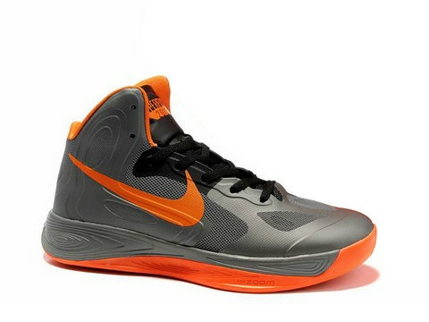 Nike Zoom Hyperfuse 2012 Charcoal Black Orange,Style code:525022-005, The