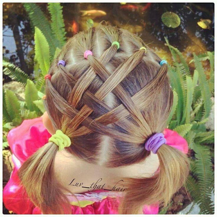 Cute Easter basket hair