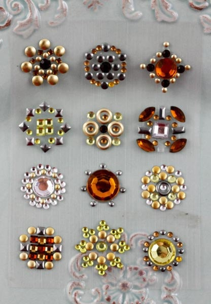 Accent Gems  - 530945 - adhesive pearls rhinestones and studs are great to use as flower centers - finishing touches to tags cards envelopes. $3.99, via Etsy.