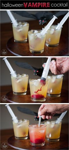 People will stare when you serve this spooky Vampire Cocktail this Halloween. It looks gory, but tastes amazing! {from Self Proclaimed Foodie}