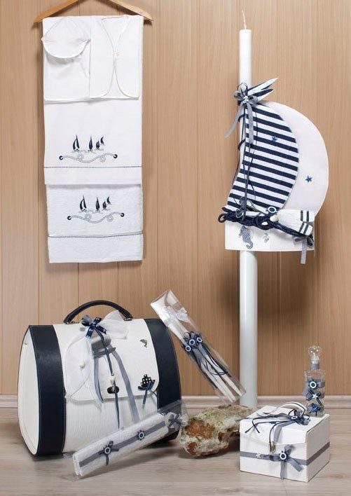 Greek Wedding Shop - Sail Boat Christening Set, Contact Sia for a Quote. (http://www.greekweddingshop.com/sail-boat-christening-set/)