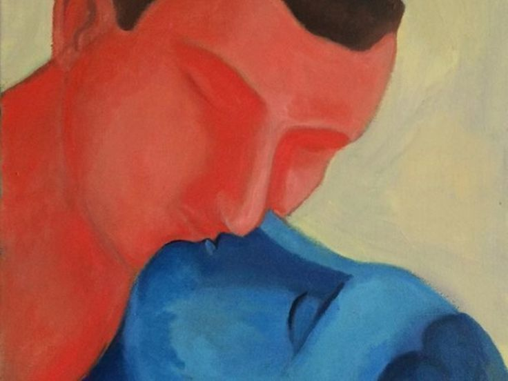 Sandro Chia, The Kiss (detail), 2014, oil on canvas, 60 x 50 cm