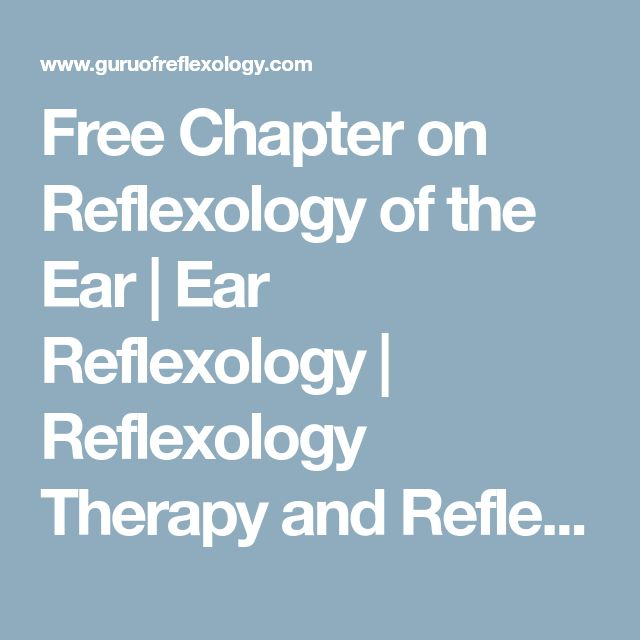 Free Chapter on Reflexology of the Ear | Ear Reflexology | Reflexology Therapy and Reflexology Massage