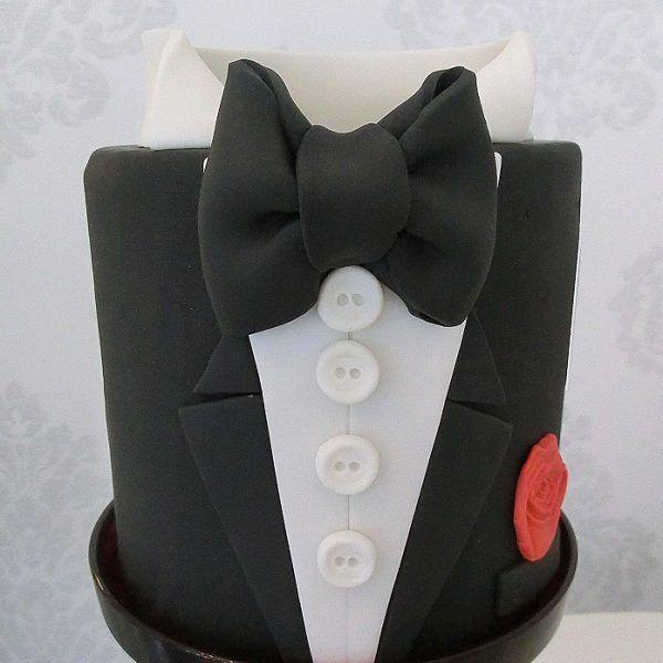 gâteau homme smoking marié james bond 007 tuxedo cake