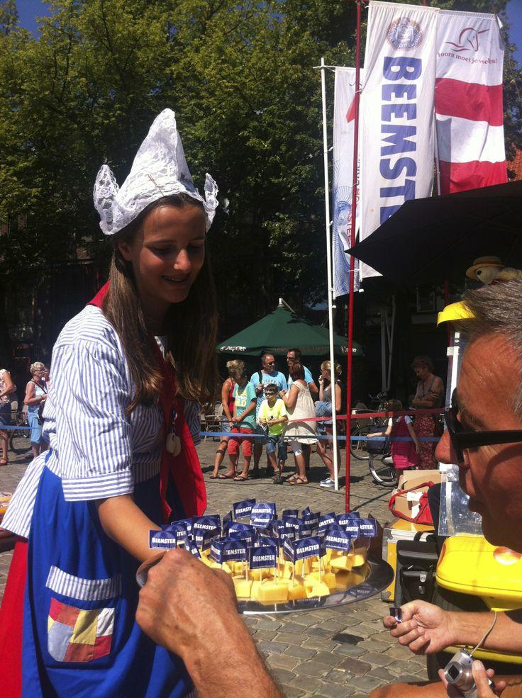 Beemster kaas op de Kaasmarkt in Hoorn