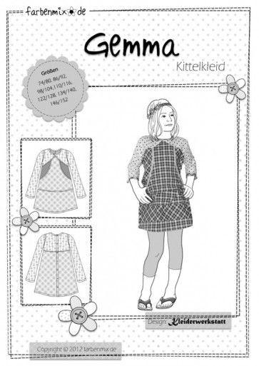 Farbenmix Gemma patroon jurk of tuniek  | Naaipatronen.nl | zelfmaakmode patroon online