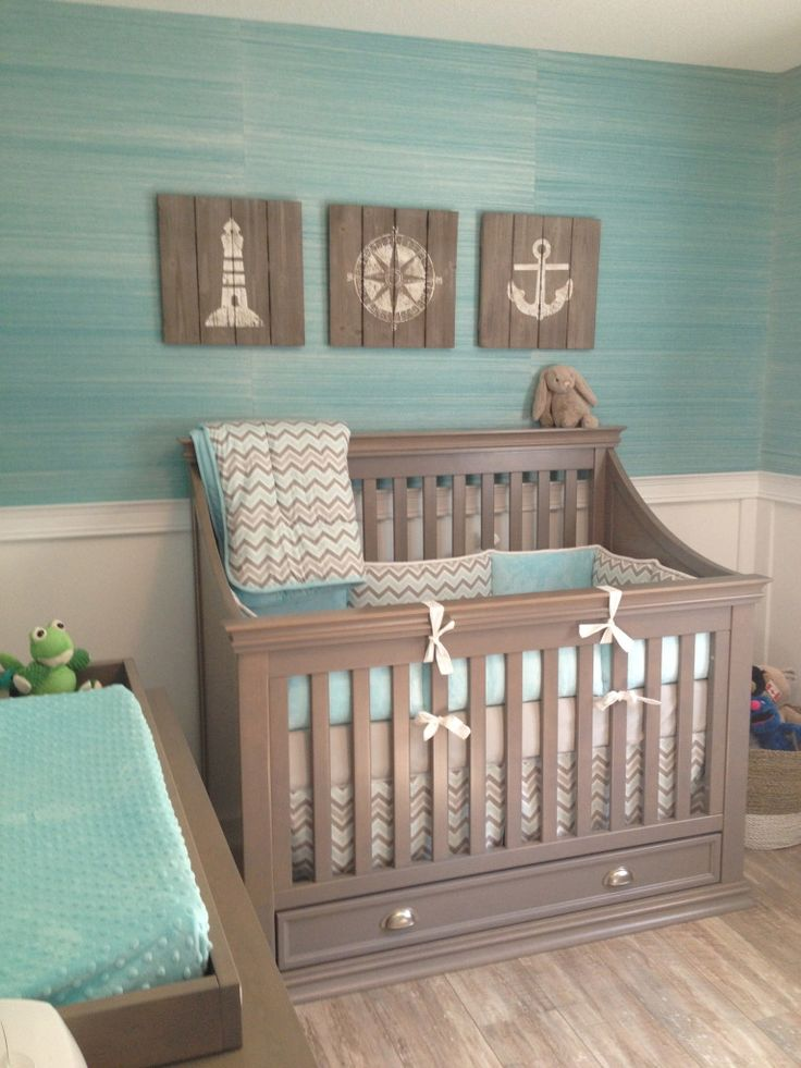 Project Nursery - Sea Blue and Gray Coastal Nursery - Project Nursery