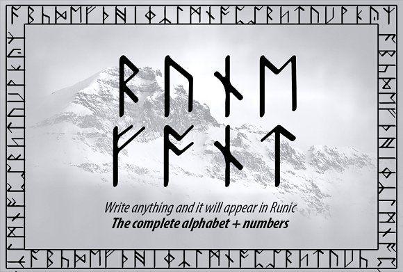 Rune Converter Font By Dene Studios On At Creativemarket Sponsored