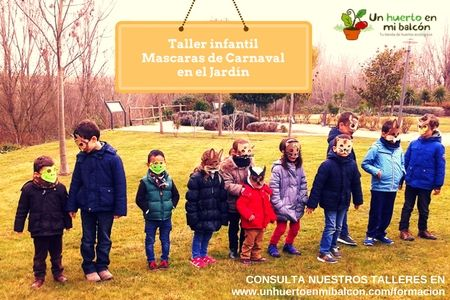 Taller para niños de máscaras de Carnaval de animales del jardín http://www.unhuertoenmibalcon.com/formacion/2015/07/talleres-infantiles-de-huerto-urbano/