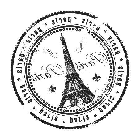 .Tour Eiffel sello postal postalcard Paris blanco y negro imprimible.
