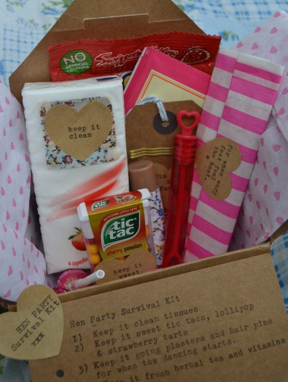 This Hen Party Survival Kit Is A Great Idea For Any Occion I Made My Friend Similar Gift Of Her Essentials