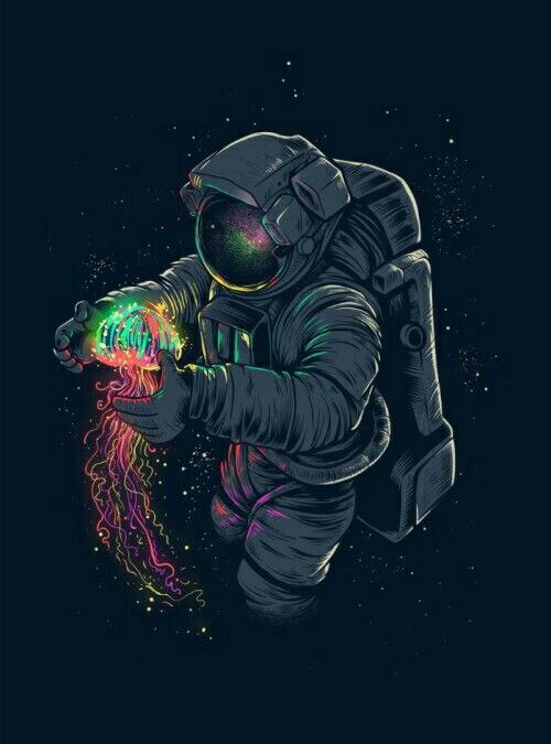 astronaut trippy weed wallpaper - photo #27
