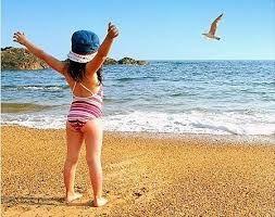 Картинки по запросу дети пляж рисунок