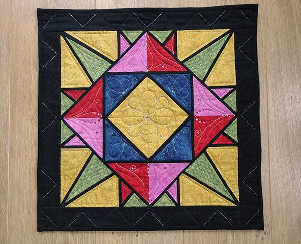 3 kleine quiltjes door Miranda van www.loveallcrafts.nl