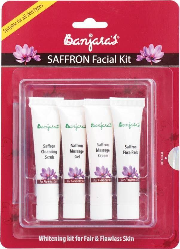 Banjara's Saffron Facial Kit Spot Removal Pigmentation Removal Rejuvenation 60 g #Banjaras