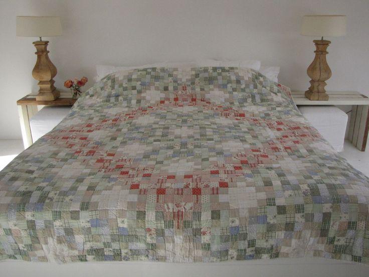 Handgemaakte quilt nummer 9 260 cm 260 cm - € 250,00 | VIA CANNELLA WOONWINKEL | CUIJK