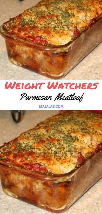 WEIGHT WATCHERS PARMESAN MEATLOAF // #WeightWatcher #Healthy #SkinnyRecipes #Rec…
