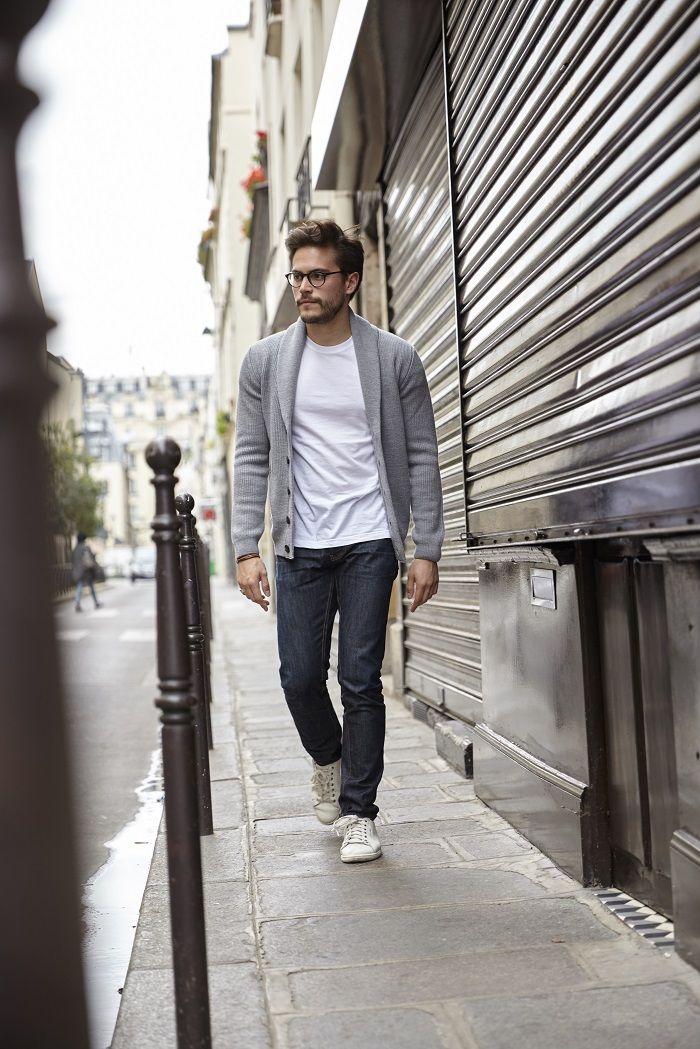 look cardigan gris bonnegueule 4