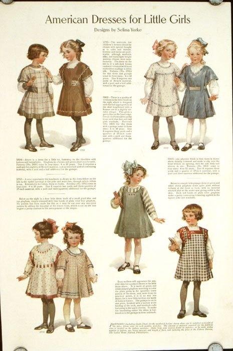 American Dresses for Little Girls - 1910's Fashion
