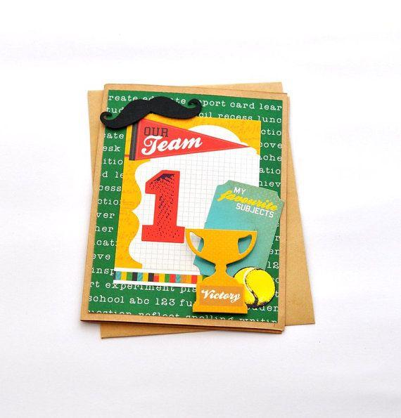 Male Teacher Card Sports Teacher Card Tennis by PaperSimplicity