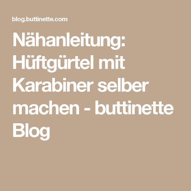 Nähanleitung: Hüftgürtel mit Karabiner selber machen - buttinette Blog