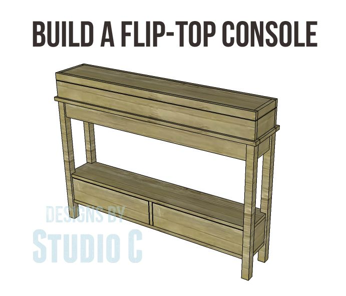 Free diy woodworking plans to build a flip top console for Free greene and greene furniture plans